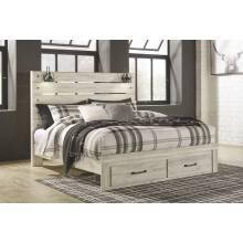 B192 Cambeck King Panel Storage Bed