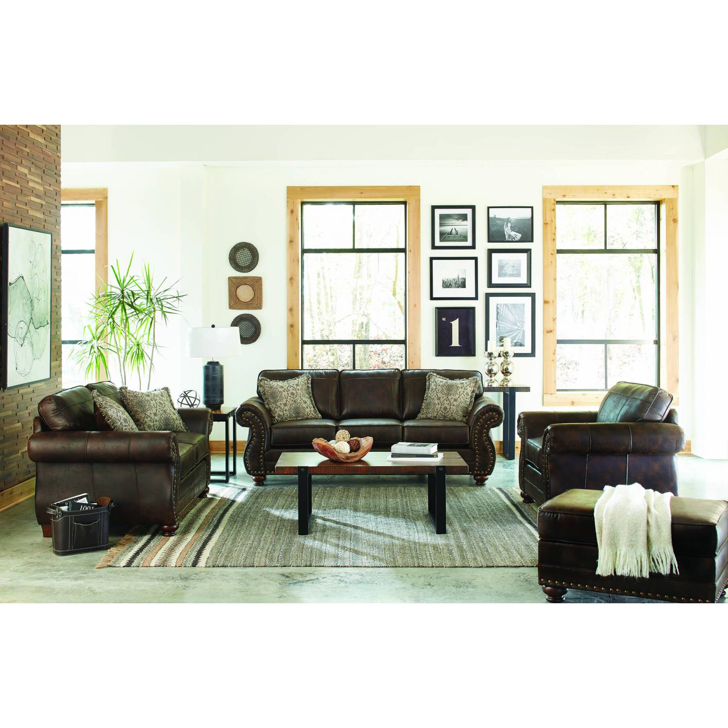 508891-S3 Graceville 3-Piece Living Room Set Brown