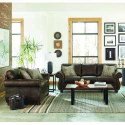 508891-S2 Graceville 2-Piece Living Room Set Brown