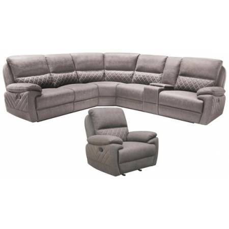 608980 6PCS MOTION SECTIONAL