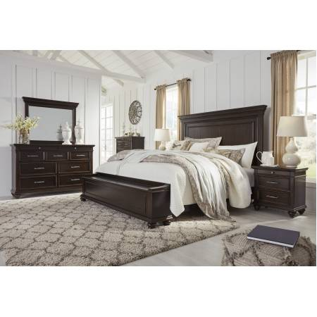 B788 Brynhurst 4PC SETS Cal King Panel Storage Bed