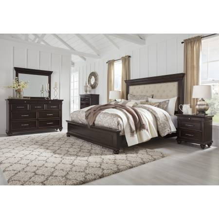 B788 Brynhurst 4PC SETS King UPH Panel Bed