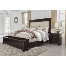 B788 Brynhurst Queen UPH Panel Storage Bed