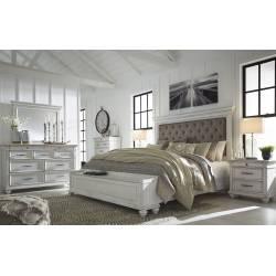 B777 Kanwyn 4PC SETS Cal King UPH Panel Storage Bed