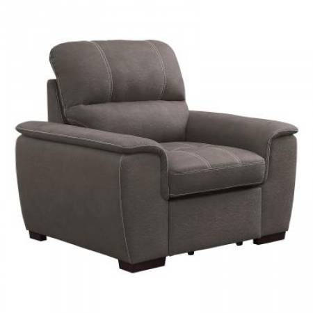 9858TP-1 Chair with Pull-out Ottoman Andes