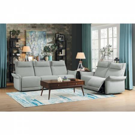 9819CE-2PWH+3PWH Power Double Reclining Sofa and Love Seat with Power Headrests Linette