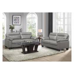 9537GRY-2+3 Sofa and Love Seat Denizen