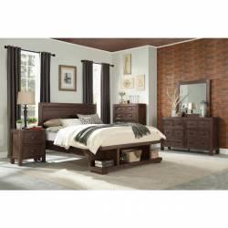2055F-1Gr Full Platform Youth Bedroom Set with Footboard Wrangell