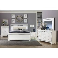 1916W-1Gr Allura Queen Bedroom Set - White