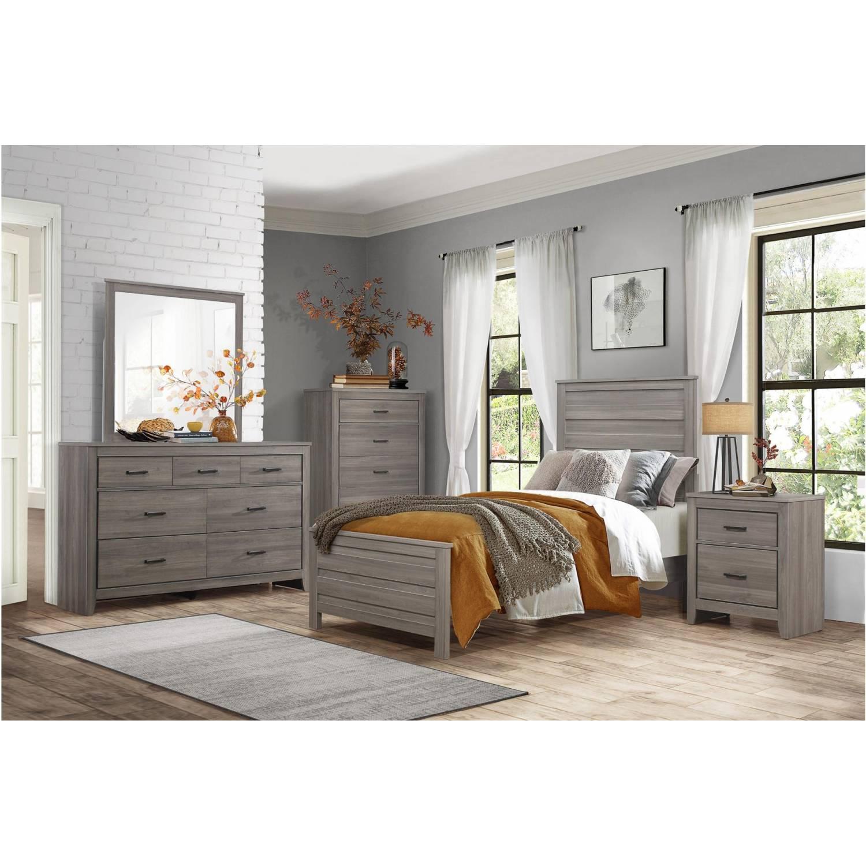 1902t 1gr Waldorf Twin Bedroom Set Gray Tone
