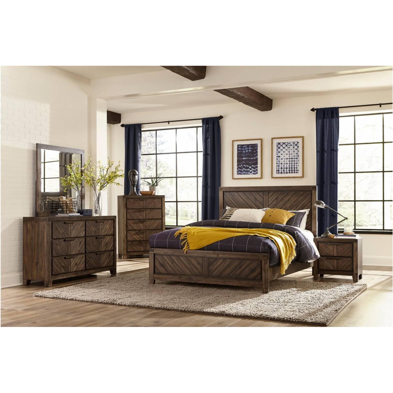 1648k Ckgr Parnell California King Bedroom Set Rustic Cherry