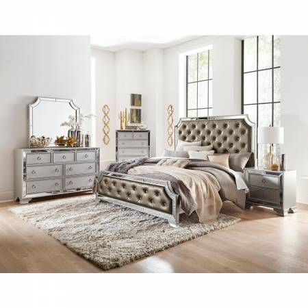 1646-QGr Avondale Queen Bedroom Set - Silver