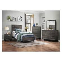 1645T-Gr Davi Twin Bedroom Set - Gray