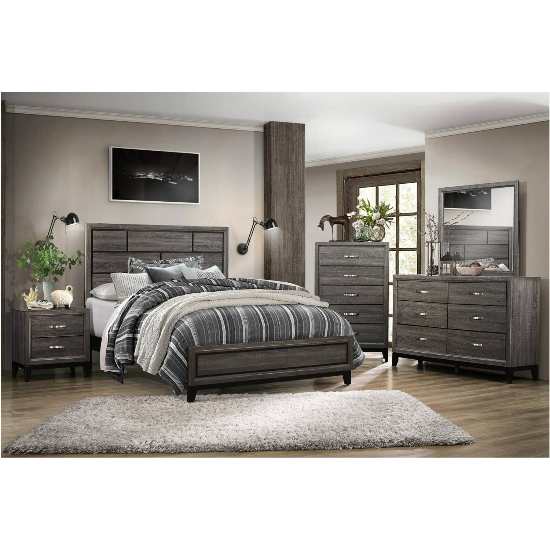 1645k Ckgr Davi California King Bedroom Set Gray