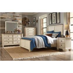 1626-Gr Weaver Queen Bedroom Set - Antique White