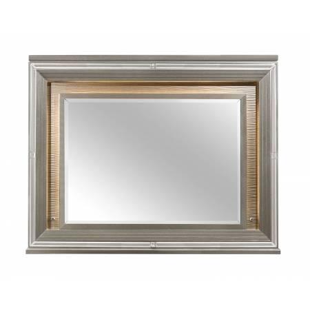 1616-6 Tamsin Mirror with LED Lighting - Silver-Gray Metallic