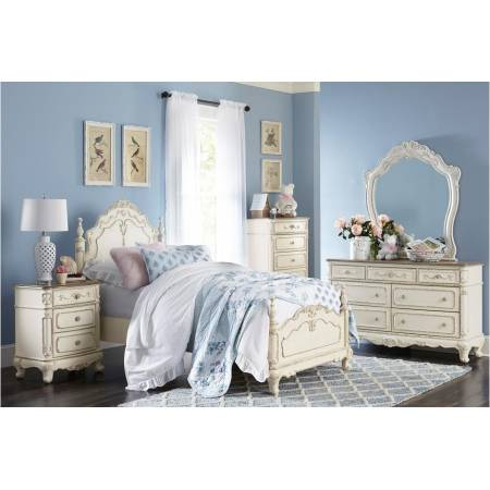 1386FNW-1Gr Full Bedroom Set Cinderella