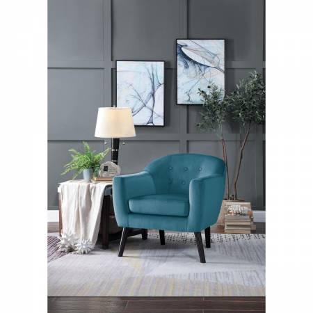 1127BU-1 Qill Accent Chair, Blue