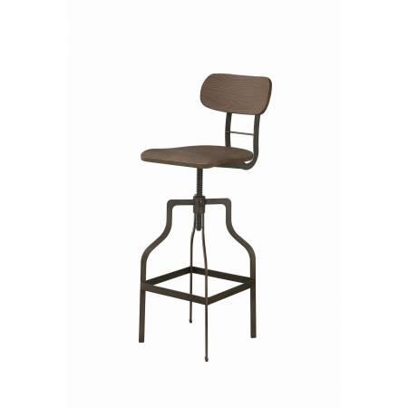 104968 Scott Living Industrial Light Brown And Bronze Bar Stool
