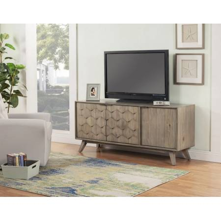 "6600-10 Shimmer Antique Gray 64"" TV Console"