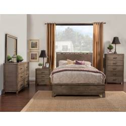 SYDNEY 4 pc (Q. Bed, N/S, Dresser, Mirror)