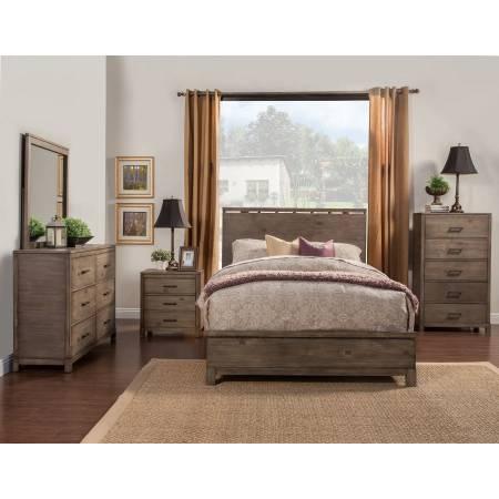 SYDNEY 4 pc (CK. Bed, N/S, Dresser, Mirror)