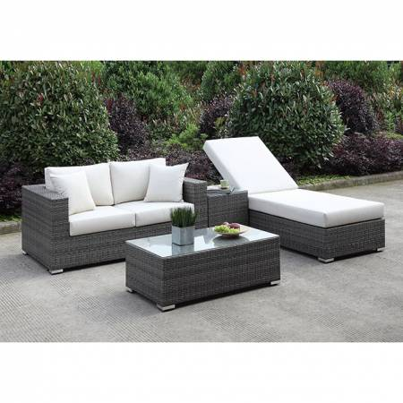 CM-OS2128-SET23 SOMANI LOVE SEAT + ADJ CHAISE + END TABLE + COFFEE TABLE