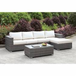 CM-OS2128-SET14 SOMANI L-SECTIONAL W/ RIGHT CHAISE + COFFEE TABLE