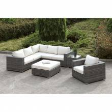 CM-OS2128-SET10 SOMANI L-SECTIONAL + CHAIR + COFFEE TABLE + END TABLE