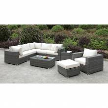 CM-OS2128-SET8 SOMANI L-SECTIONAL + CHAIR + OTTOMAN + COFFEE TABLE