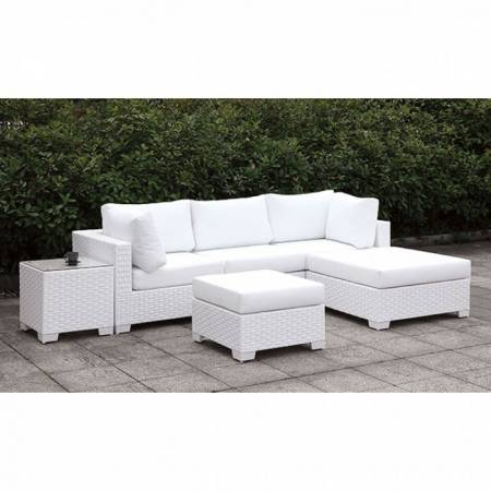 CM-OS2128WH-SET21 SOMANI II SMALL L-SECTIONAL W/ RIGHT CHAISE + OTTOMAN
