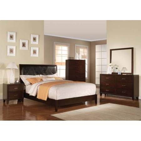 19540Q-4PC 4PC SETS CAPPUCCINO QUEEN BED