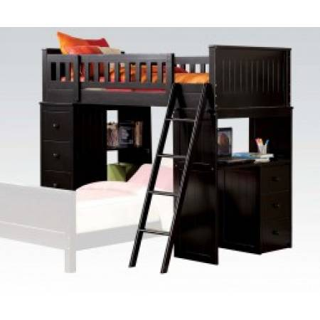 10980A WILLOUGHBY BLACK LOFT BED