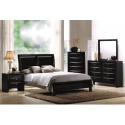 04153Q-4PC 4PC SETS BLACK QUEEN BED