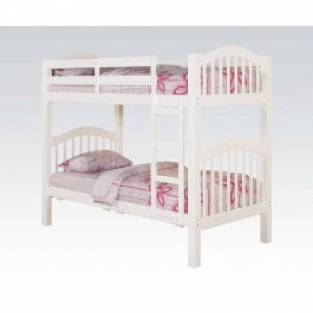 02354 HEARTLAND WHITE T/T BUNK BED