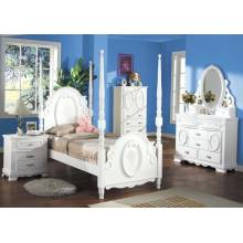 01660T-4PC 4PC SETS FLORA TWIN POST BED