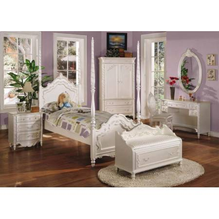 01000T-4PC 4PC SETS TWIN POST BED-HB/FB/R