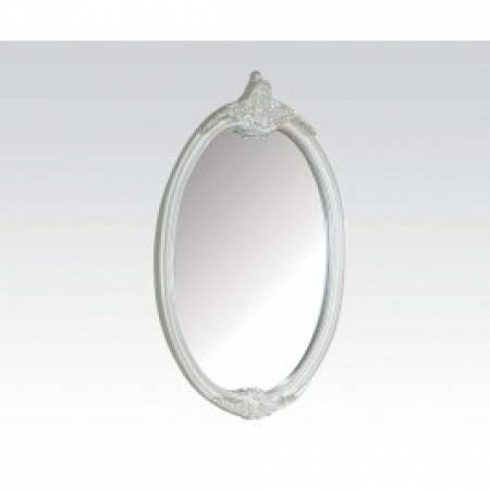 01014 PEARL WHITE OVAL MIRROR