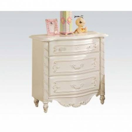 01013 PEARL WHITE NIGHT STAND