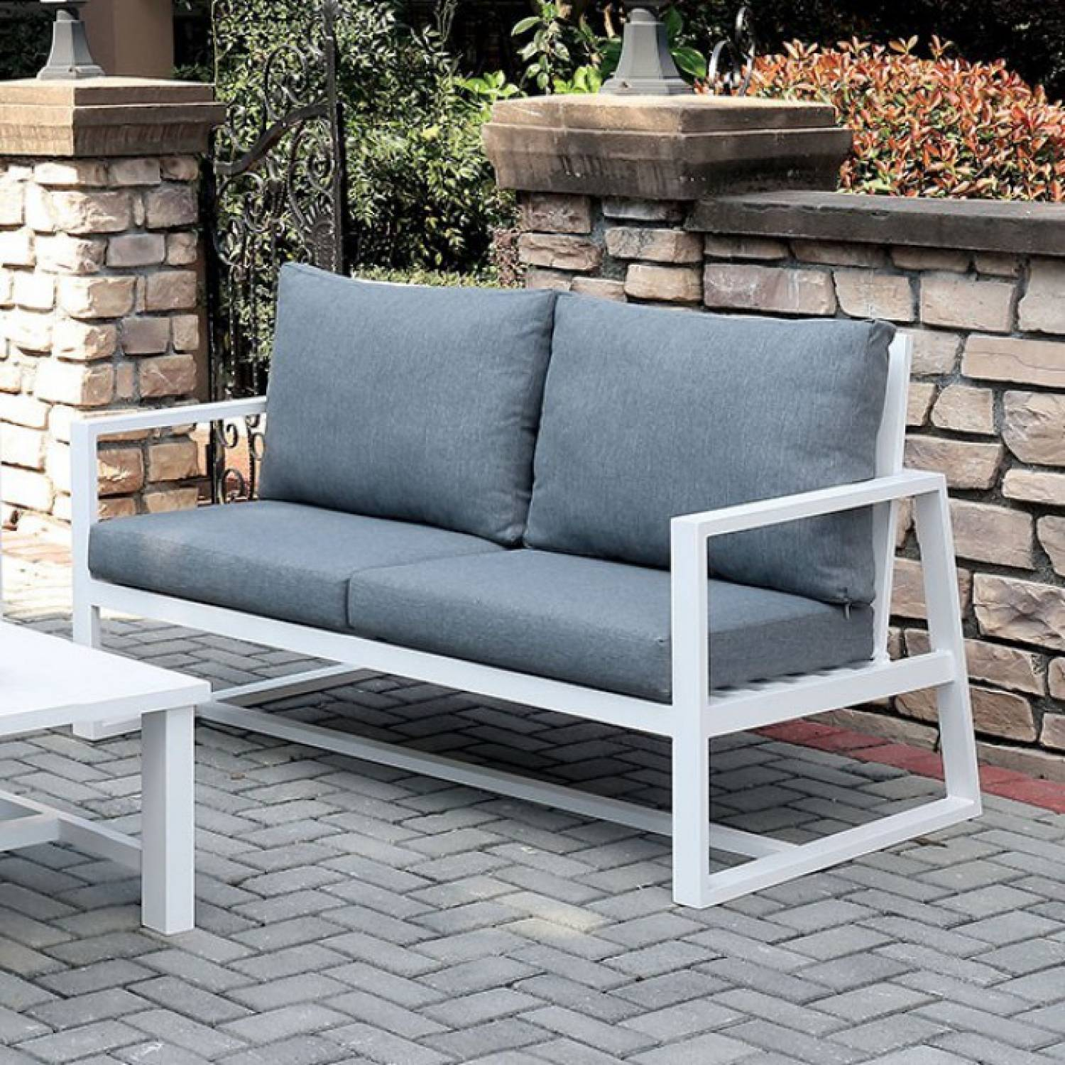 Cm Os2590gy Lv India Patio Love Seat
