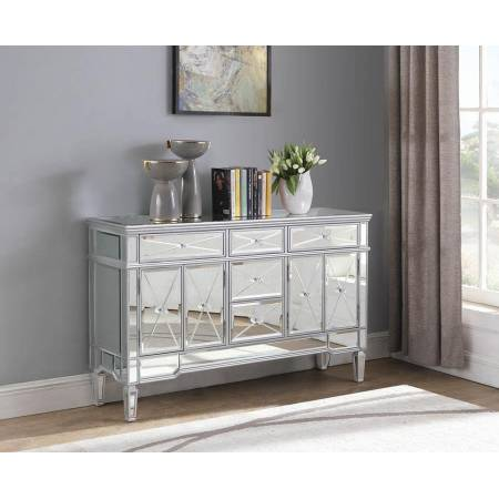 5-Drawer Accent Cabinet Silver 950849