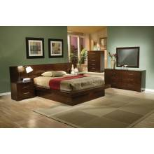 Jessica Dark Cappuccino King Four-Piece Bedroom Se 200711KE-S4