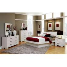 Jessica Contemporary White Eastern King Five-Piece 202990KE-S5