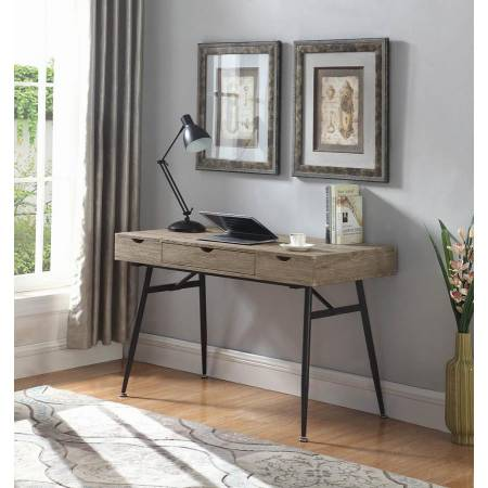 1-Drawer Writing Desk Driftwood 801935
