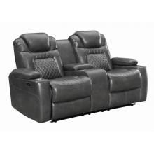 Korbach Upholstered Power^2 Loveseat Charcoal 603415PP