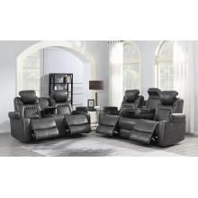 Korbach 2-Piece Power^2 Living Room Set Charcoal 603414PP-S2