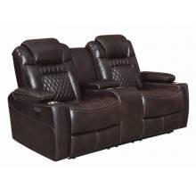 Korbach Upholstered Power^2 Loveseat Espresso 603412PP
