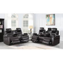 Korbach 2-piece Power^2 Living Room Set Espresso 603411PP-S2
