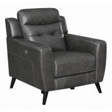 Lantana Upholstered Power Recliner Charcoal 603386P