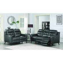 Lantana 2-piece Power Living Room Set Charcoal 603384P-S2